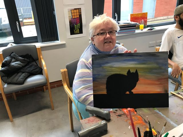 Artworks help lift spirits at hospice