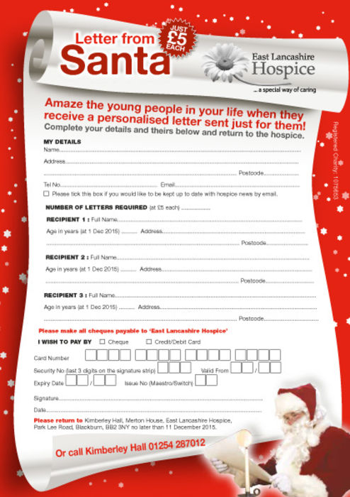 Letter From Santa A5 Order Form