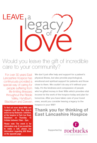 Legacy of love leaflet